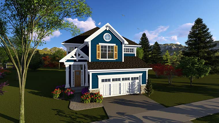 Cottage, Country, Craftsman House Plan 75267 with 3 Beds, 3 Baths, 2 Car Garage Elevation