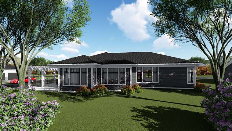 Contemporary Southwest House Plan 75268 Rear Elevation