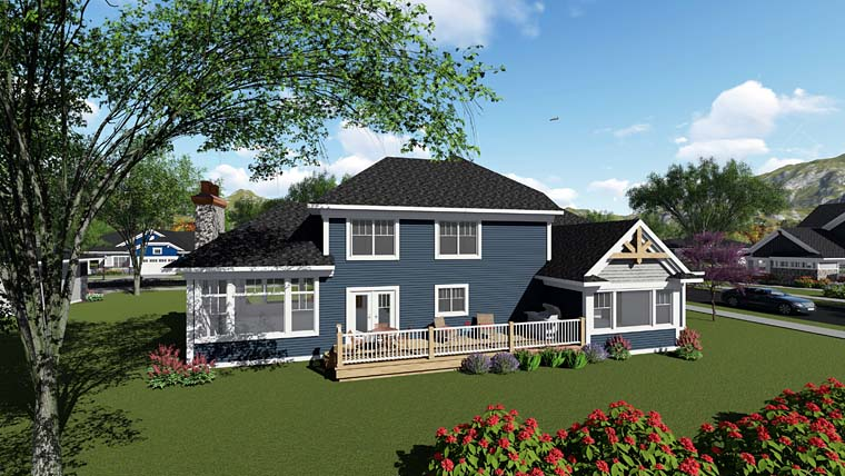 Bungalow Cottage Craftsman House Plan 75269 Rear Elevation