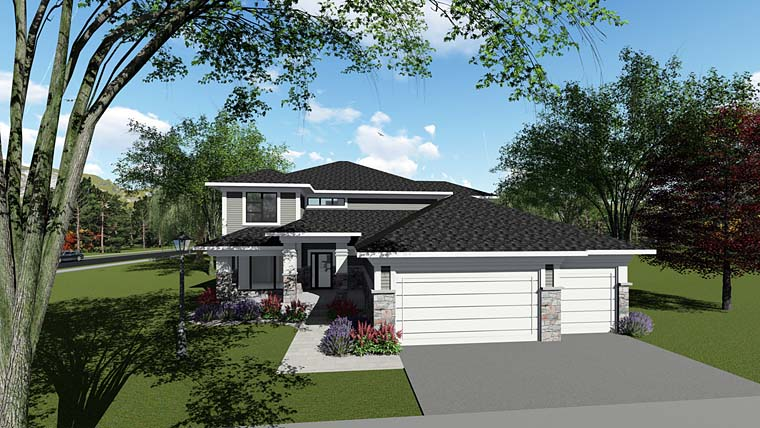 Contemporary Southwest House Plan 75270 Elevation