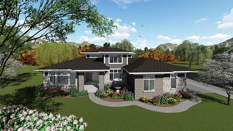 Country Southwest House Plan 75271 Elevation