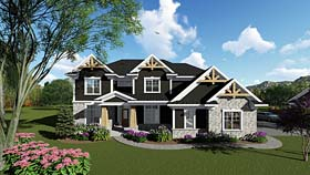 Bungalow Cottage Country Craftsman Southern Traditional House Plan 75273 Elevation