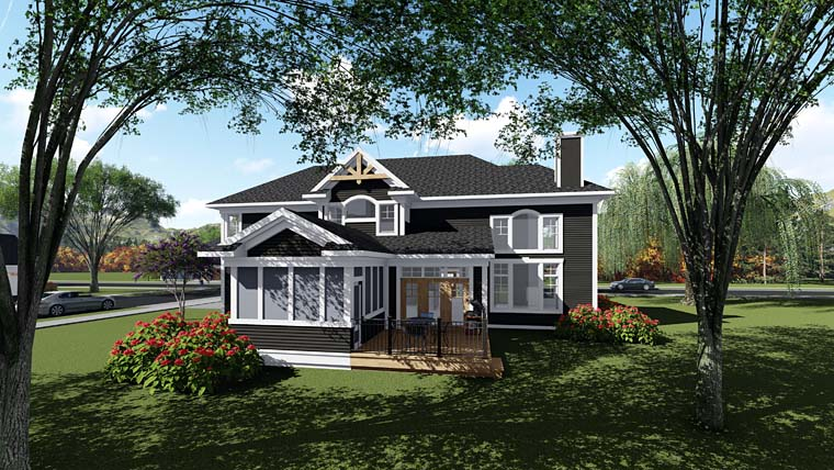 Bungalow Cottage Country Craftsman Southern Traditional House Plan 75273 Rear Elevation