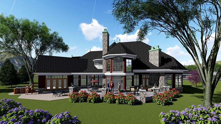 European Southern Traditional House Plan 75275 Rear Elevation