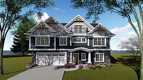 House Plan 75276 | Cottage, Country, Craftsman, Southern Style House Plan with 4856 Sq Ft, 5 Bed, 6 Bath, 2 Car Garage Elevation