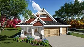 Bungalow , Cottage , Craftsman House Plan 75281 with 2 Beds, 2 Baths, 3 Car Garage Elevation