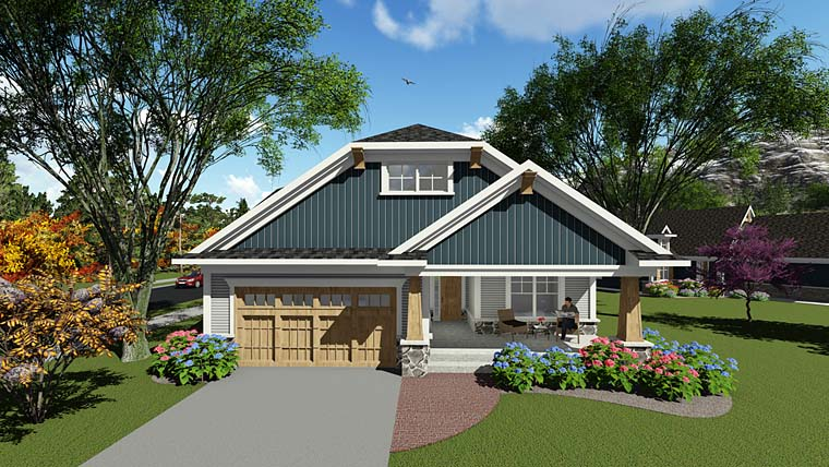 Cottage Country Craftsman House Plan 75285 Elevation