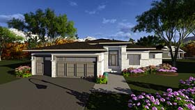 House Plan 75289 | Contemporary Southwest Style Plan with 1850 Sq Ft, 2 Bedrooms, 3 Bathrooms, 3 Car Garage Elevation