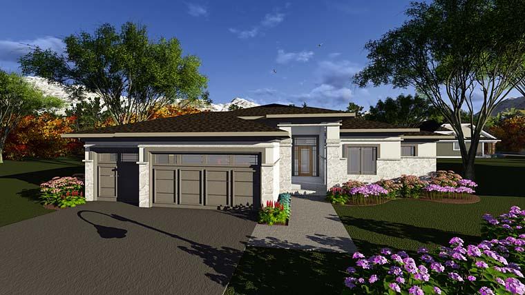 Contemporary Southwest House Plan 75289 Elevation