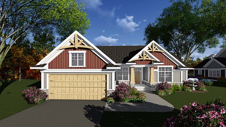 Bungalow Cottage Country Craftsman Traditional House Plan 75290 Elevation