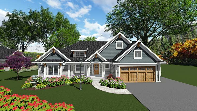 Cottage Country Craftsman Southern House Plan 75292 Elevation