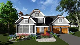 Bungalow Cottage Country Craftsman House Plan 75297 Elevation