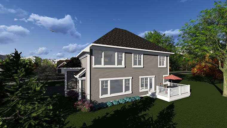 Craftsman Traditional House Plan 75299 Rear Elevation