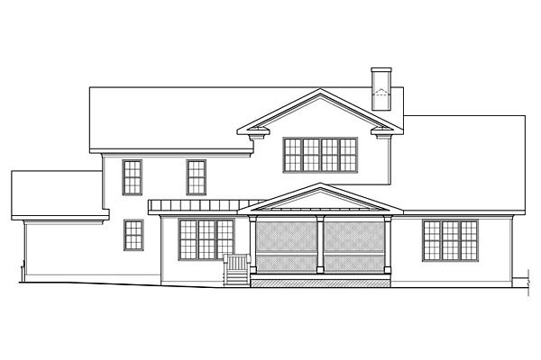 House Plan 75301 | Bungalow Cottage Country Craftsman Style Plan with 4061 Sq Ft, 5 Bedrooms, 4 Bathrooms, 3 Car Garage Rear Elevation