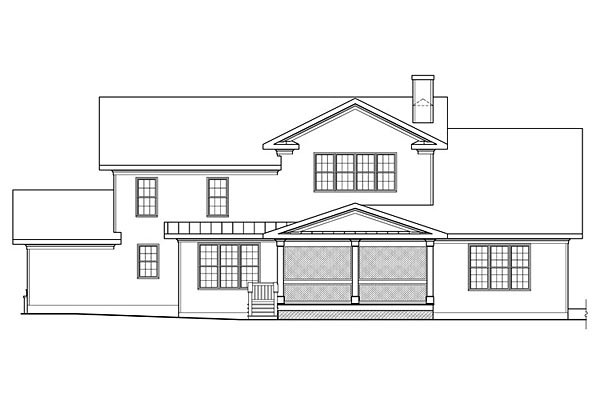 Bungalow Cottage Country Craftsman House Plan 75301 Rear Elevation