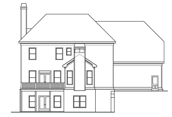 Colonial Southern House Plan 75302 Rear Elevation