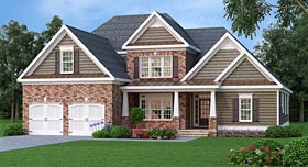 Southern Traditional House Plan 75303 Elevation