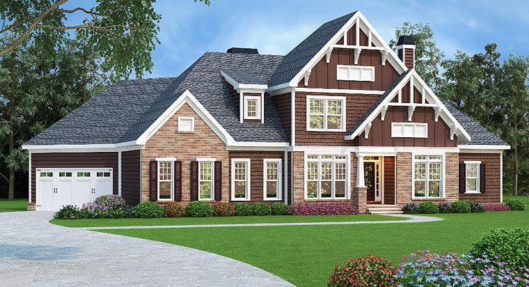 Craftsman Traditional House Plan 75304 Elevation