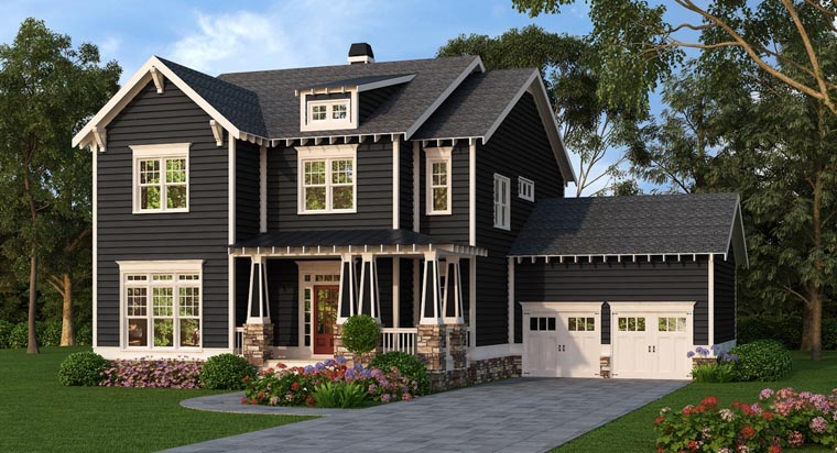 Cottage Country Craftsman Farmhouse House Plan 75317 Elevation