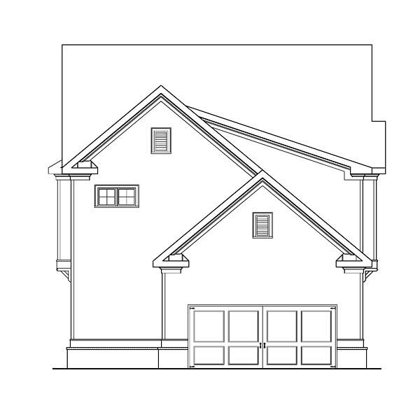 Country Craftsman Traditional House Plan 75320 Rear Elevation