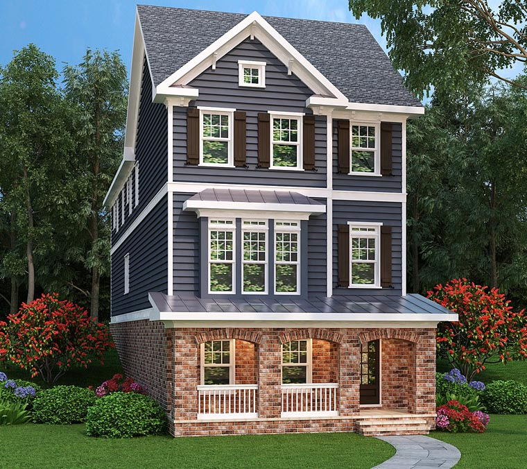 Craftsman, Traditional House Plan 75323 with 3 Beds, 5 Baths, 2 Car Garage Front Elevation