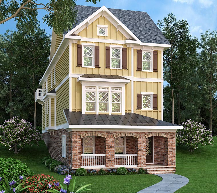 House Plan 75324 | Coastal, Country, Craftsman Style House Plan with 3430 Sq Ft, 4 Bed, 5 Bath, 2 Car Garage Elevation