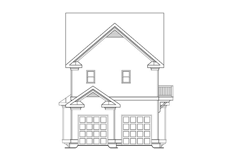House Plan 75324 | Coastal, Country, Craftsman Style House Plan with 3430 Sq Ft, 4 Bed, 5 Bath, 2 Car Garage Rear Elevation
