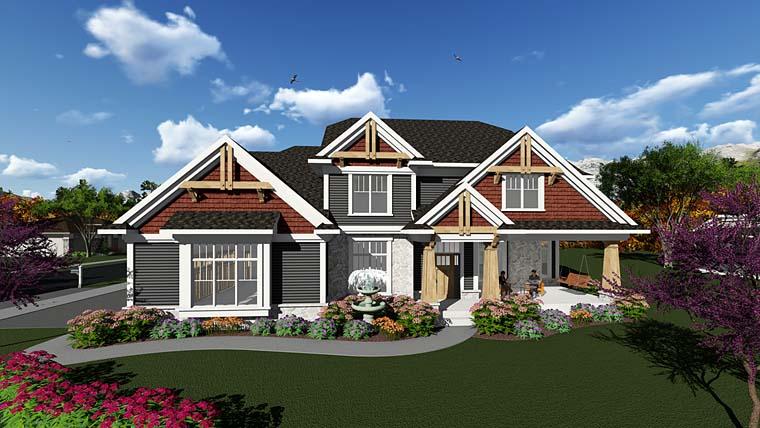 Cottage Craftsman House Plan 75400 Elevation