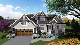 Cottage Country Craftsman House Plan 75401 Elevation