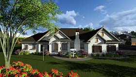 Cottage European Traditional House Plan 75402 Elevation