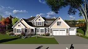 House Plan 75406 | Craftsman Farmhouse Southern Traditional Style Plan with 2964 Sq Ft, 3 Bedrooms, 3 Bathrooms, 3 Car Garage Elevation