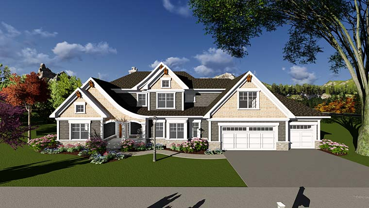 Craftsman Farmhouse Southern Traditional House Plan 75406 Elevation
