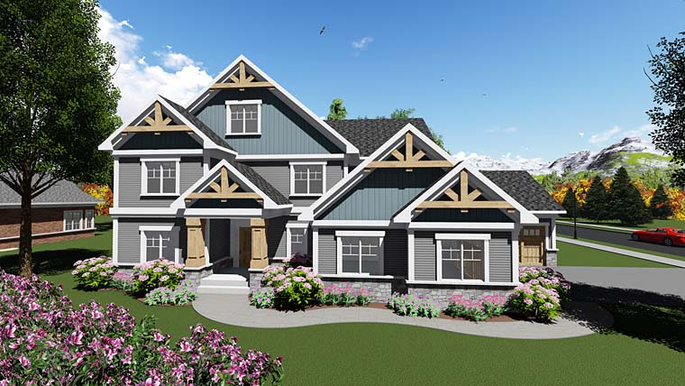 Craftsman Traditional House Plan 75409 Elevation