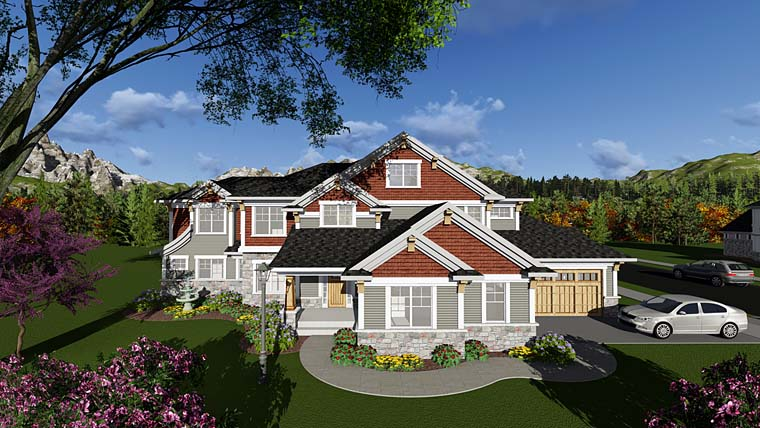 Craftsman Traditional House Plan 75411 Elevation
