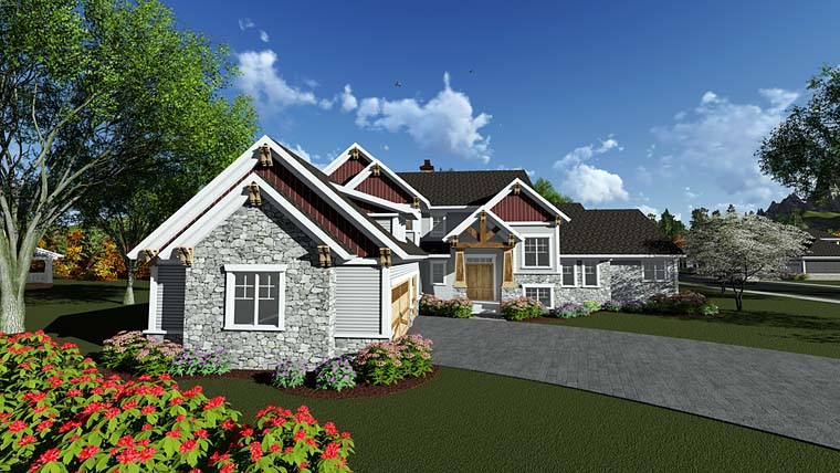 Cottage Craftsman House Plan 75412 Elevation