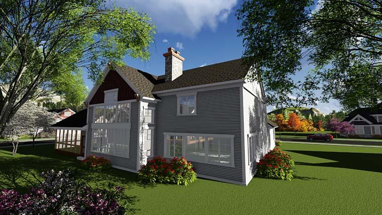 Cottage Craftsman House Plan 75412 Rear Elevation