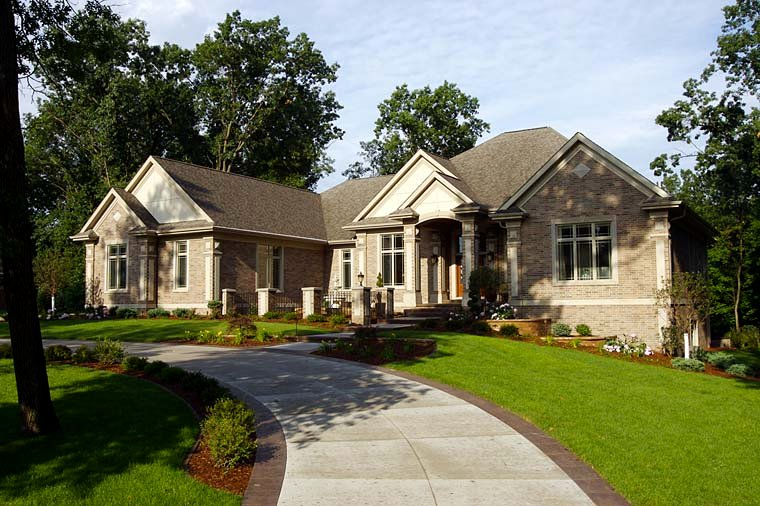 Traditional House Plan 75413 with 2 Beds, 3 Baths, 4 Car Garage Front Elevation