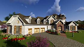 European French Country House Plan 75414 Elevation