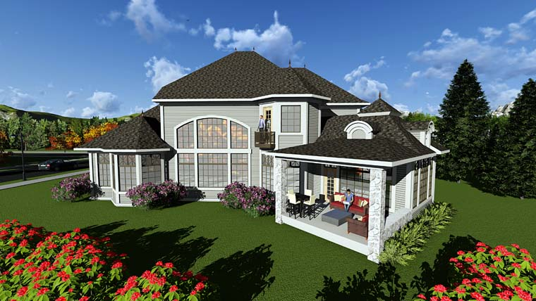 European French Country House Plan 75414 Rear Elevation
