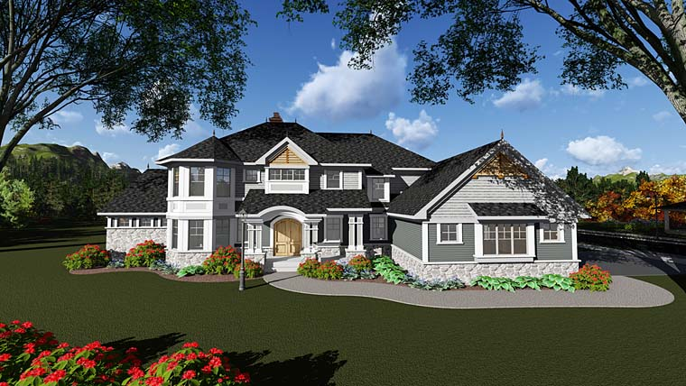 Craftsman Traditional House Plan 75415 Elevation