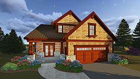 Bungalow , Cottage , Country , Craftsman , Traditional House Plan 75419 with 5 Beds, 4 Baths, 3 Car Garage Elevation