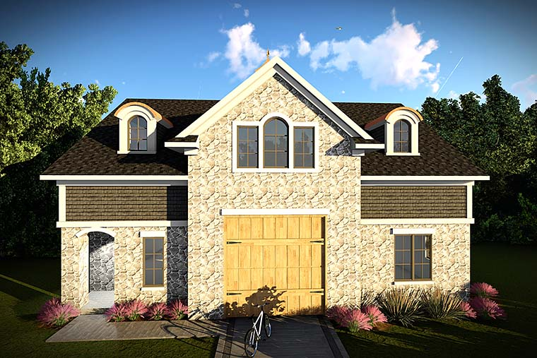 European Garage Plan 75422 Elevation
