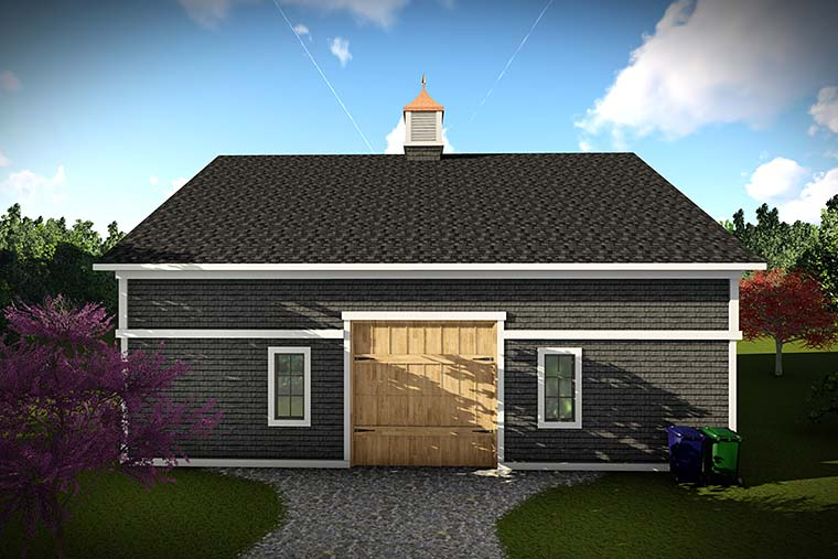 European Garage Plan 75422 Rear Elevation