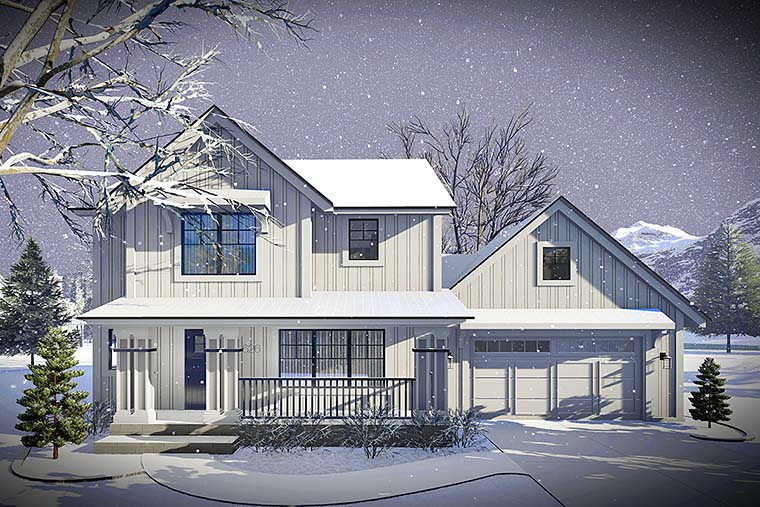 Country Farmhouse Traditional House Plan 75424 Elevation