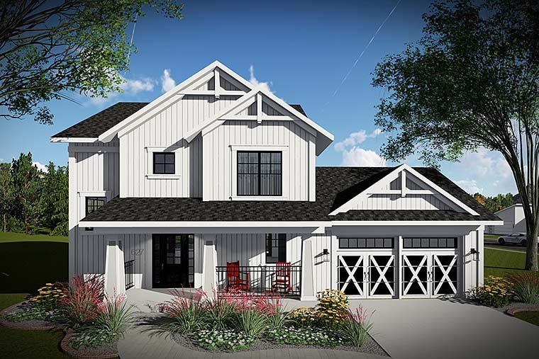 Country Farmhouse Southern House Plan 75425 Elevation