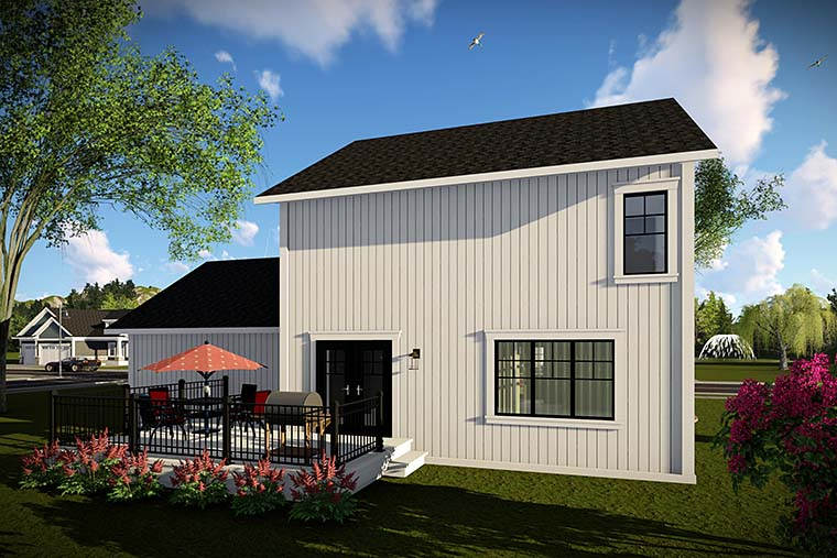 Country Farmhouse Southern House Plan 75425 Rear Elevation