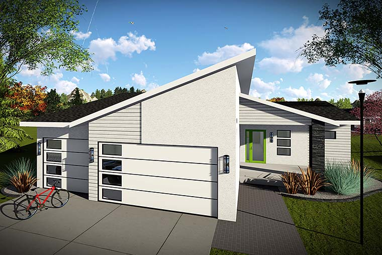 Contemporary Ranch House Plan 75426 Elevation
