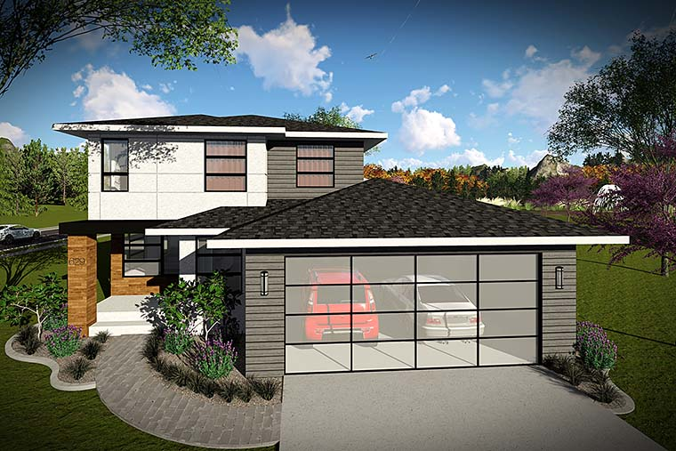 Contemporary Modern House Plan 75427 Elevation