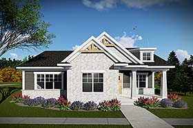 Cottage Country Craftsman House Plan 75430 Elevation