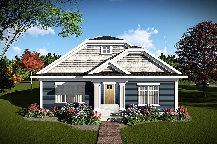 Cottage, Country House Plan 75431 with 2 Beds, 2 Baths, 2 Car Garage Elevation